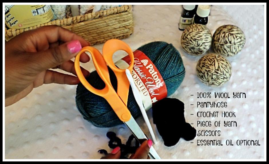 Make wool dryer balls