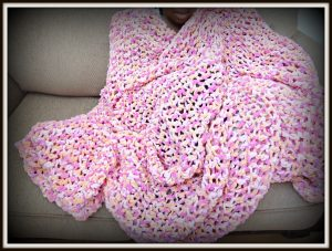 Crochet Blanket Using Q Hook. Super