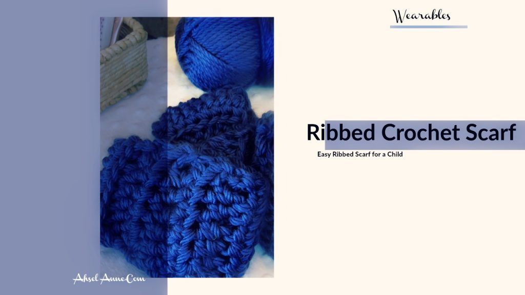 Ribbed Scarf for Children