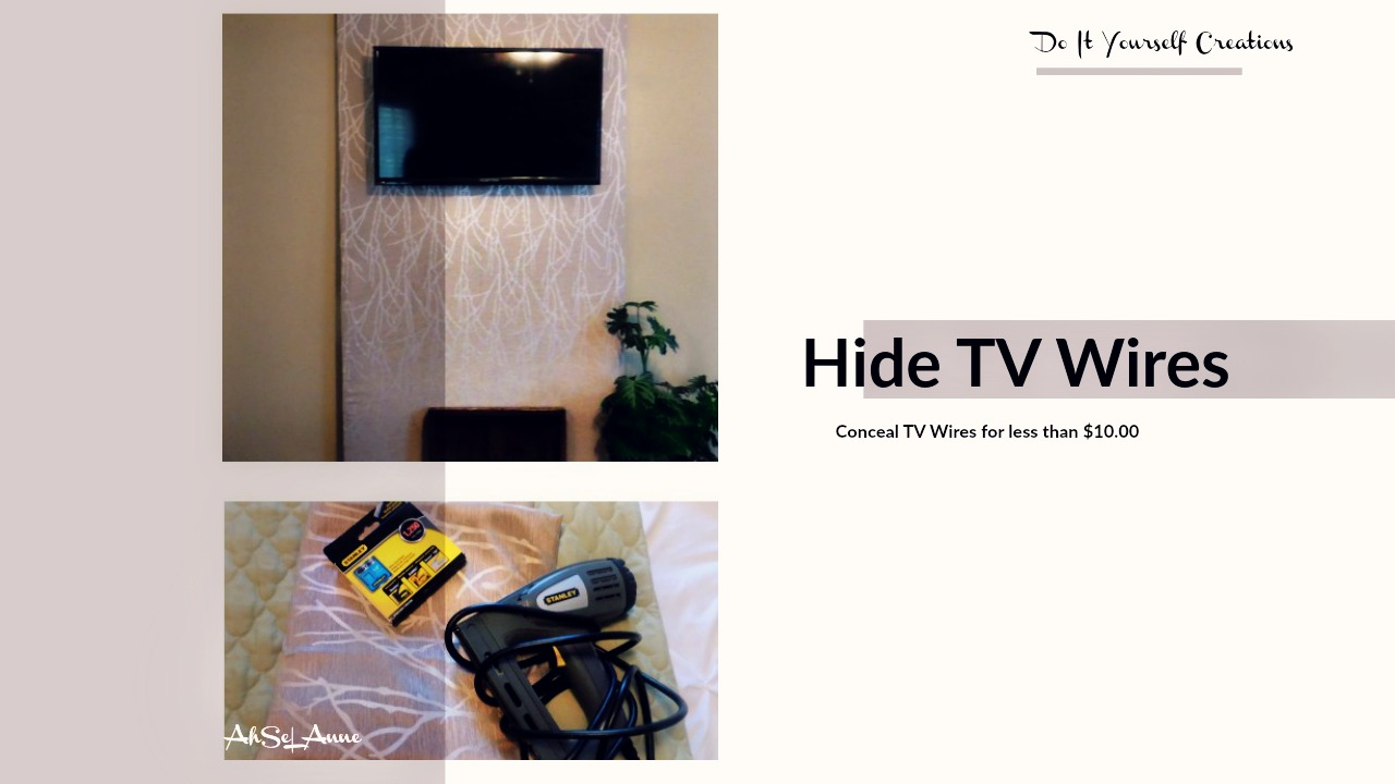 Simple Solution to Hide TV Cords Less than $10- AhselAnne