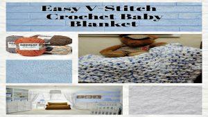V-Stitch Baby Blanket