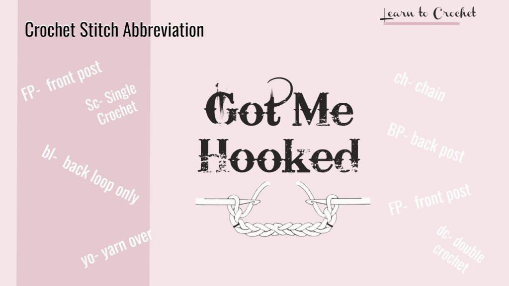 crochet abbreviation
