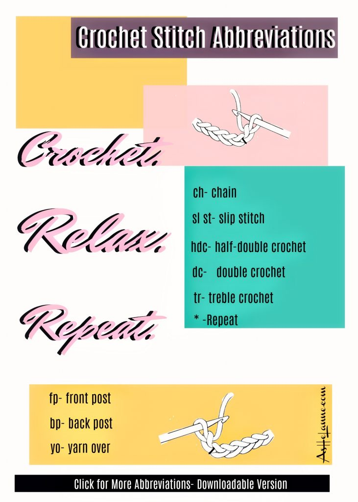 crochet stitch abbreviations