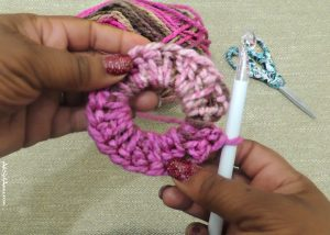 Magic Loop for Messy Bun Crochet Hat