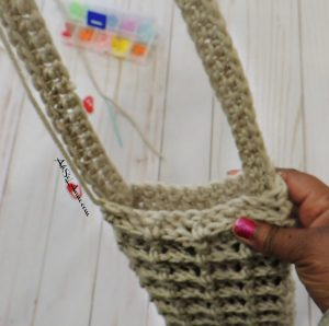 Attaching Strap Crochet Kindle Pouch