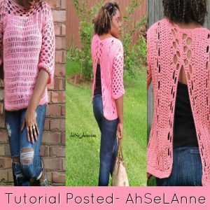 CROCHET SHIRT WITH V BACK