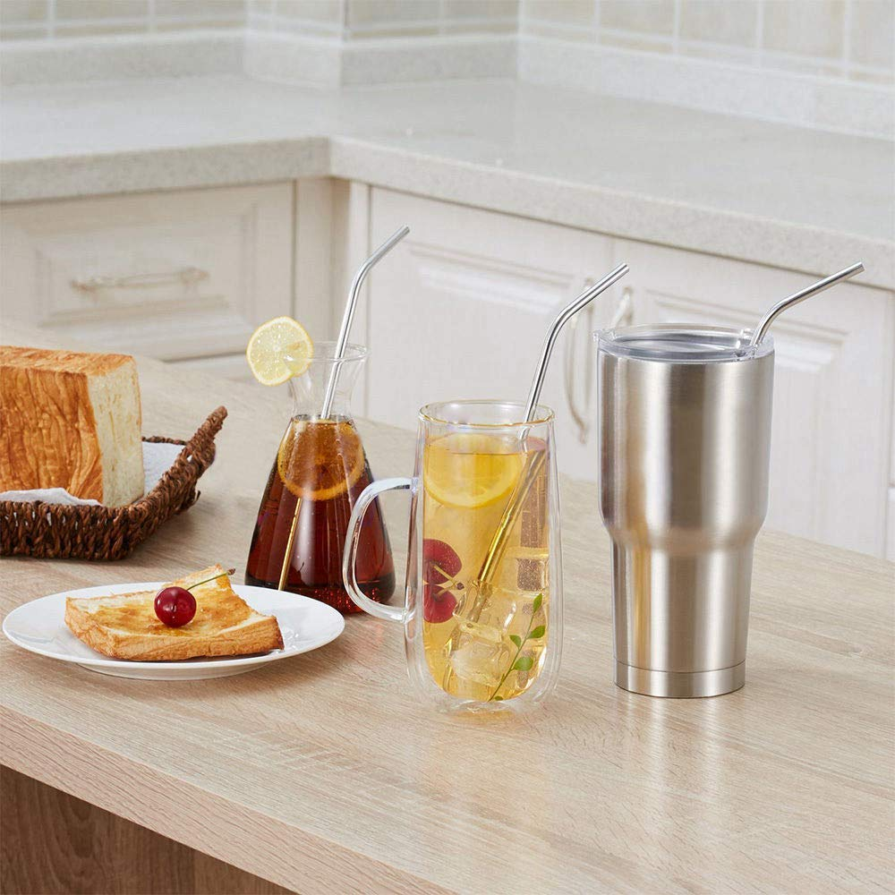 Stainless Steel Drinking Straws | Reusable Drinking