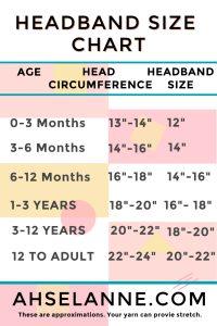 HeadBand Size Chart