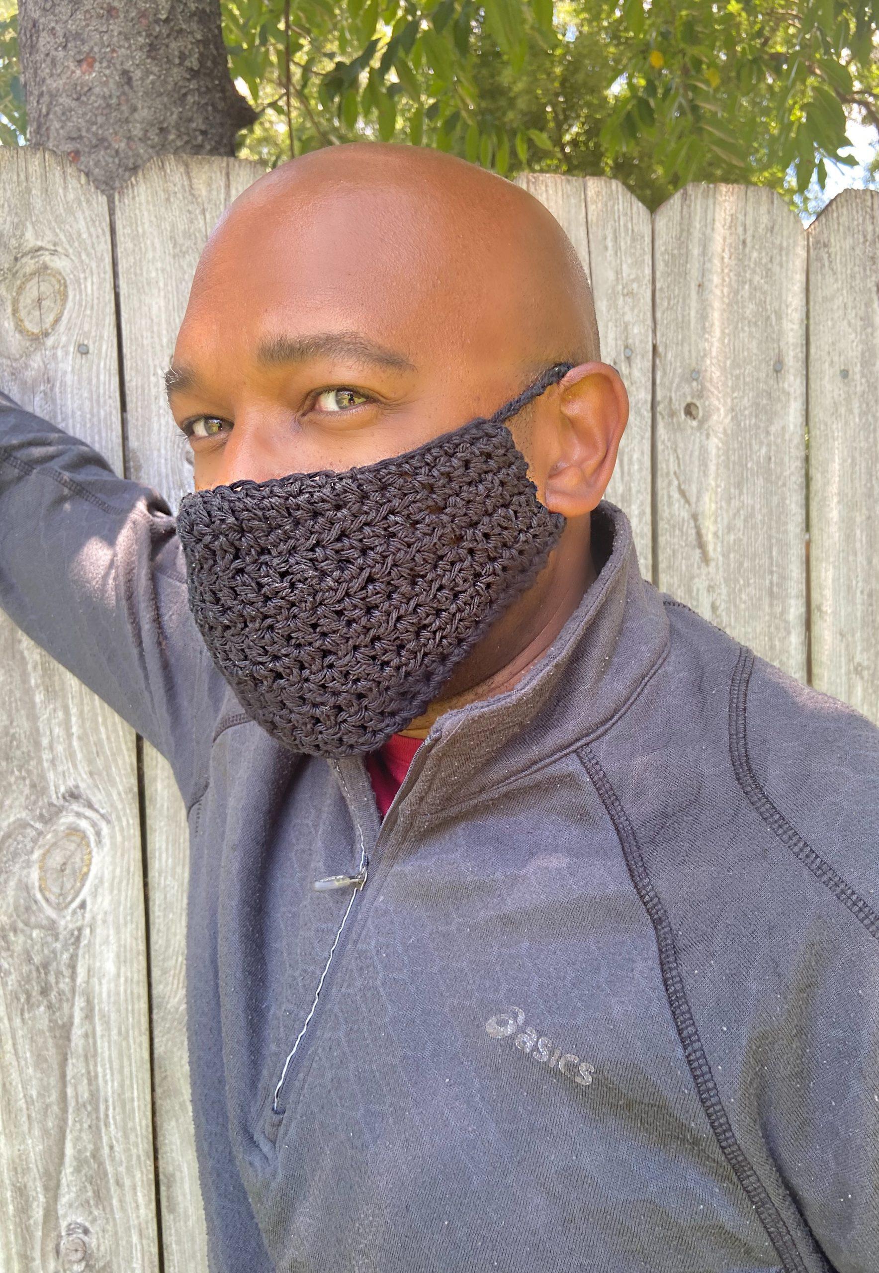 Crochet Mask with Pocket Filter