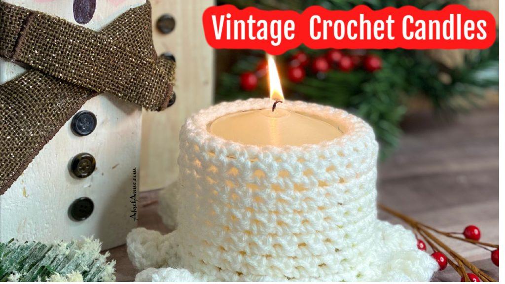 Crochet Vintage Candle